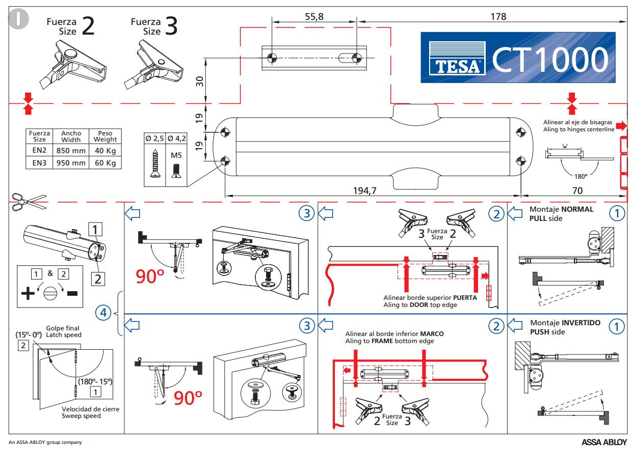 Схемы доводчиков дверей