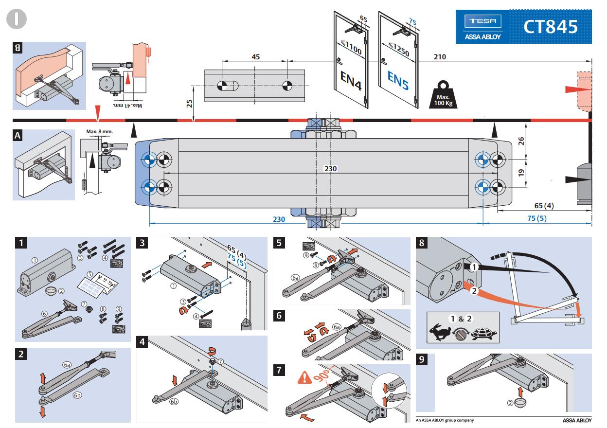 Инструкция по монтажу доводчика